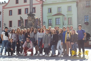 group photo in the Cesky Krumlov msmstudy.eu