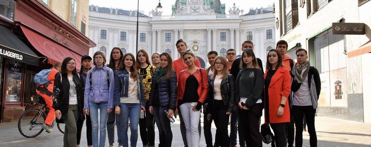 msm students on their trip to Vienna msmstudy.eu